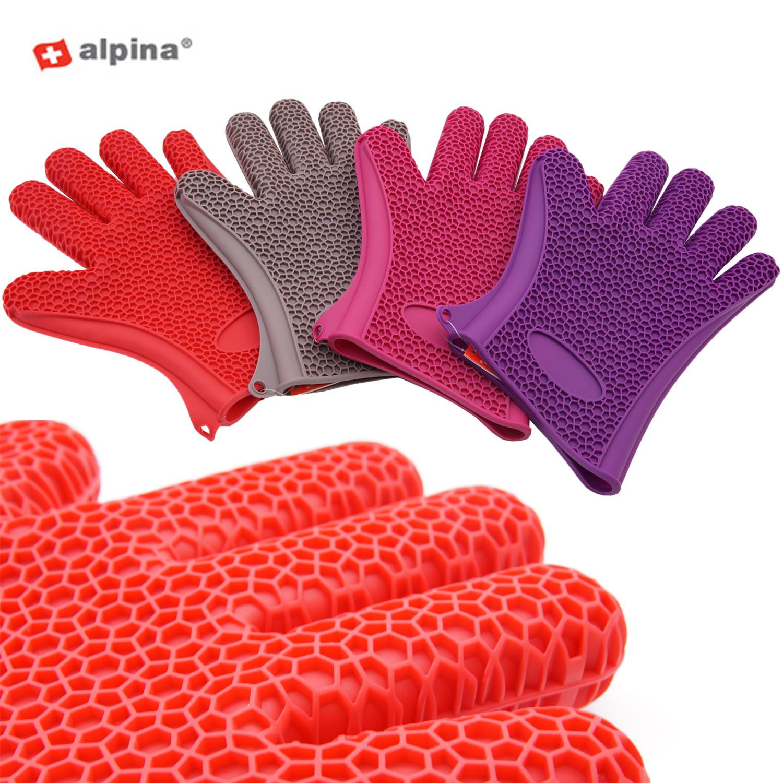 alpina 1 paar silikon ofen handschuhe topfhandschuh grillhandschuh backhandschuh ebay. Black Bedroom Furniture Sets. Home Design Ideas