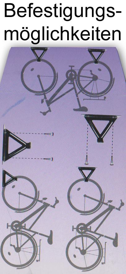 fahrradhaken fahrradaufh ngung fahrrad wandhalter aufh ngen fahrradhaken bike ebay. Black Bedroom Furniture Sets. Home Design Ideas