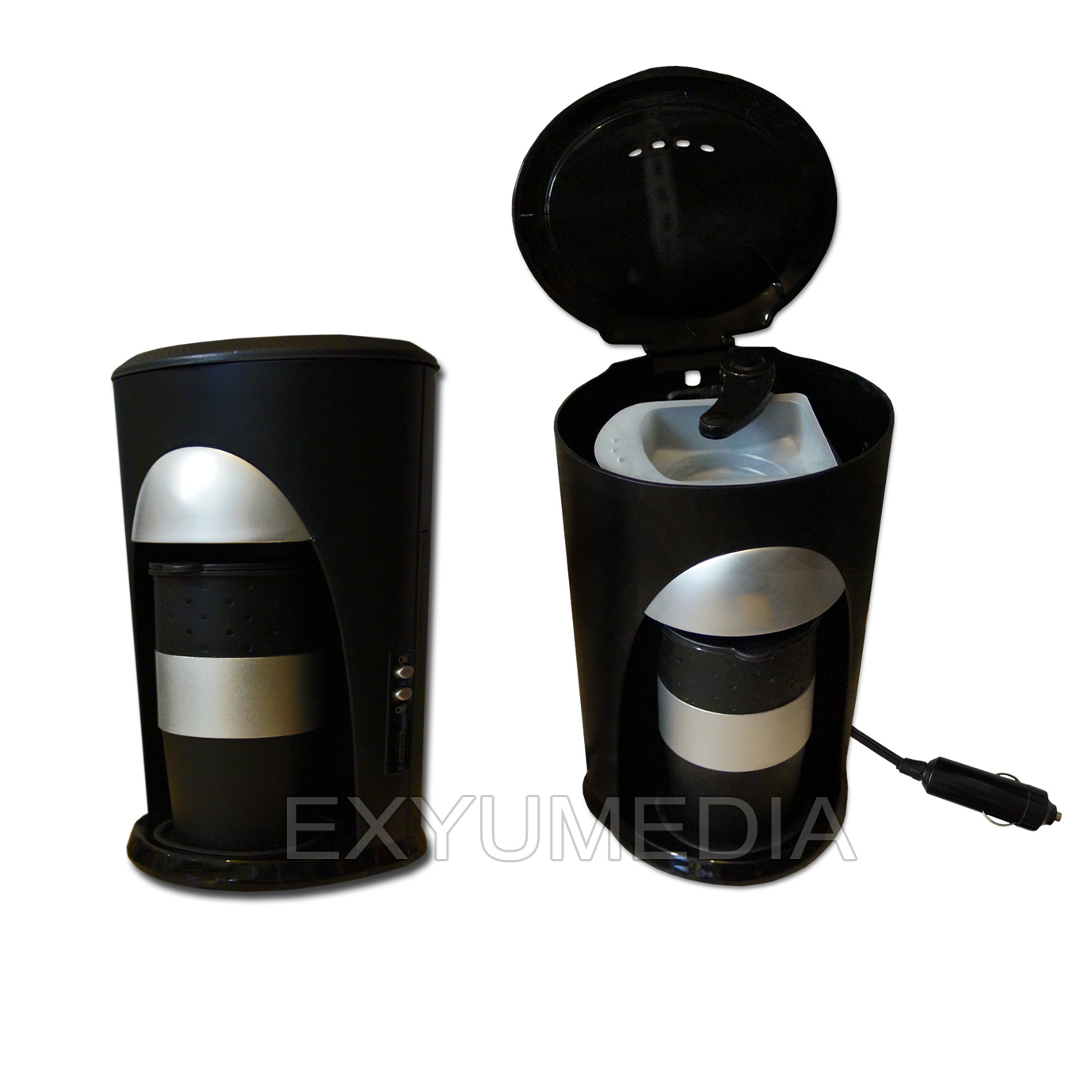 12v pad reise kaffeemaschine 2 becher auto kaffee automat 12 volt fernfahrer. Black Bedroom Furniture Sets. Home Design Ideas