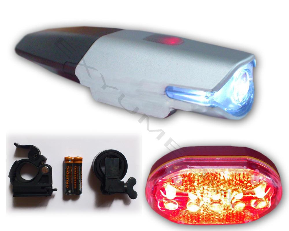 led fahrradbeleuchtung set akku fahrradlampe fahrradlicht mit grundig batterie. Black Bedroom Furniture Sets. Home Design Ideas