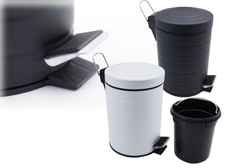 metall kosmetikeimer 3 l treteimer matt bad toilette eimer m ll abfall sammler ebay. Black Bedroom Furniture Sets. Home Design Ideas