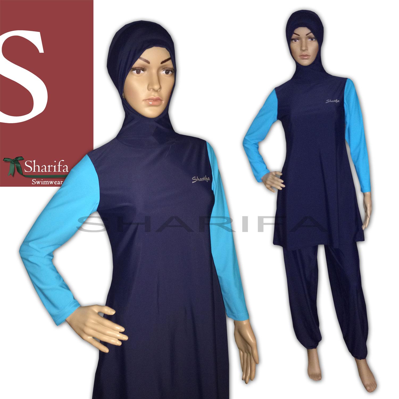 sharifa ganzk rper badeanzug tesett r mayo abaya full cover swimwear burkini ebay. Black Bedroom Furniture Sets. Home Design Ideas