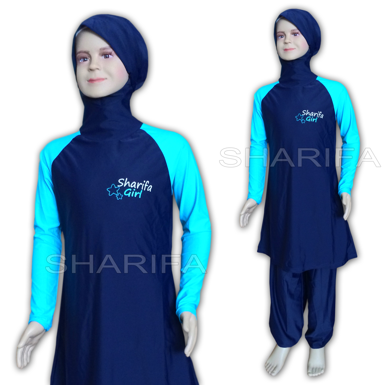 sharifa girl f r m dchen ganzk rper badeanzug tesett r mayo abaya full cover ebay. Black Bedroom Furniture Sets. Home Design Ideas